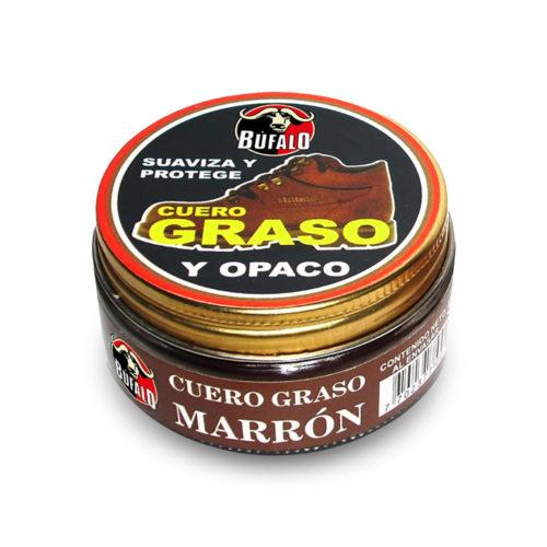 crema cuero graso marron