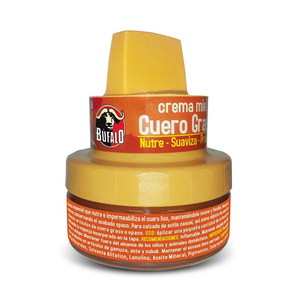 crema cuero graso miel